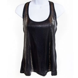 DKYN Black Sequined Tank Top NWT Size S/P